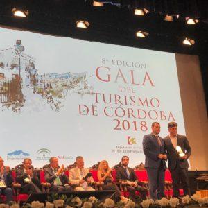 """La Ruta del Vino Montilla Moriles recibe el premio """"RECONOCIMIENTO A LA MEJOR WEB TURÍSTICA"""" en la octava edición de la Gala del Turismo de Córdoba"""